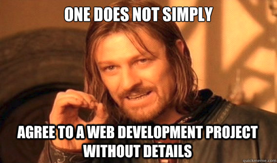 Ned stark explaining how important business requirement analysis is in web development