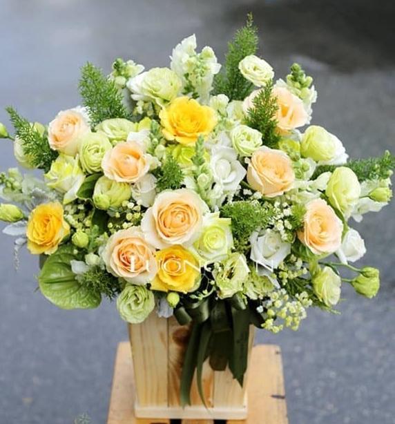 Hoa tươi màu bắt mắt