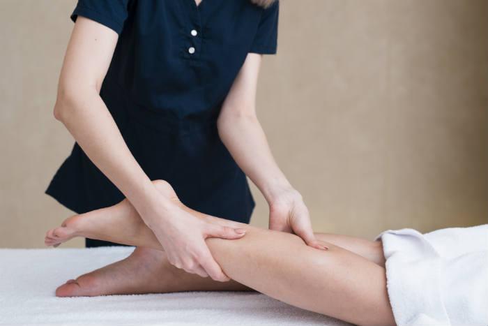 Drenaje linfático en piernas