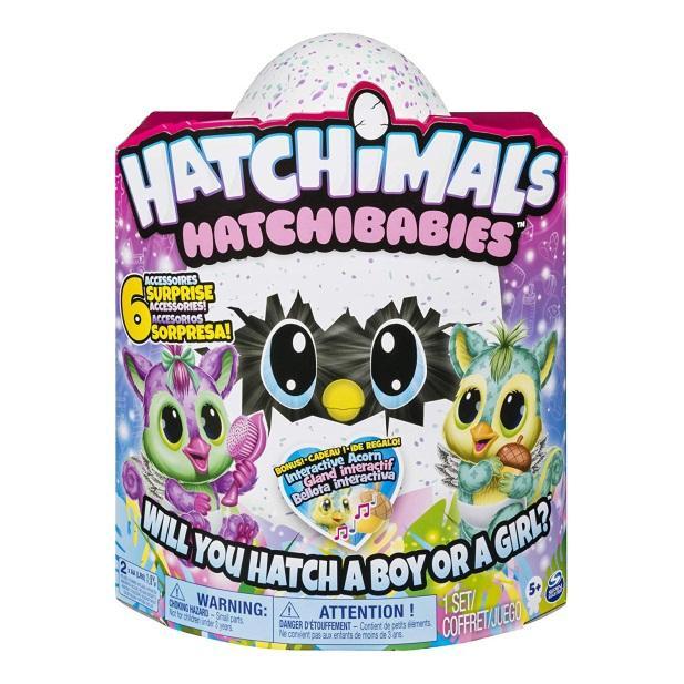 HATCHIMALS HATCHIBABIES CHIPADEE HATCHING EGG WITH INTERACTIVE PET BABY