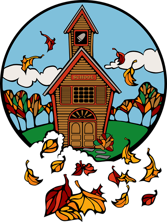 fall school house picture