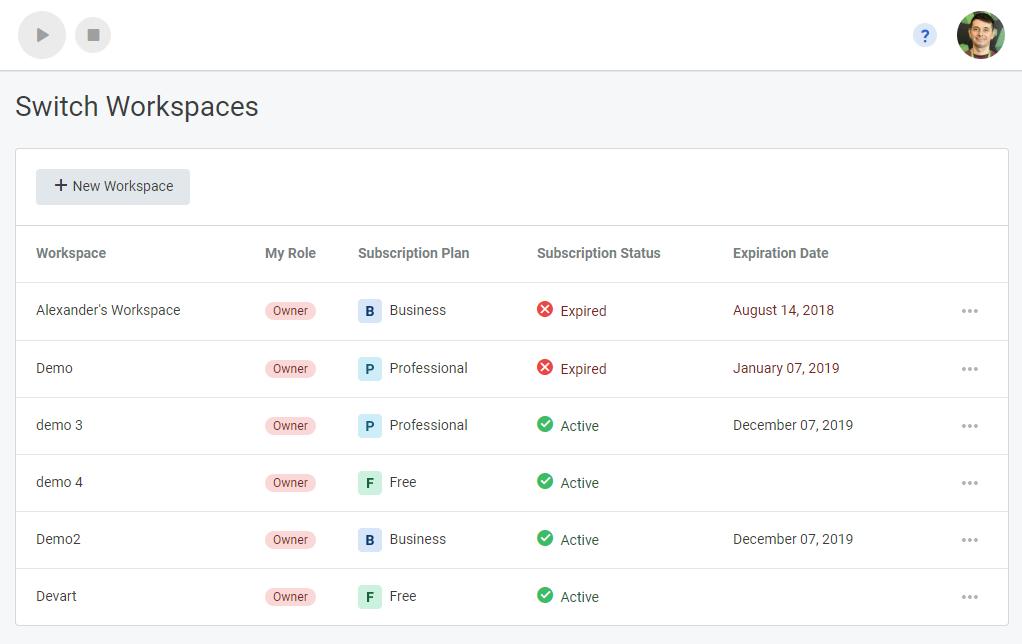 Аккаунт TMetric теперь переименован в Workspace