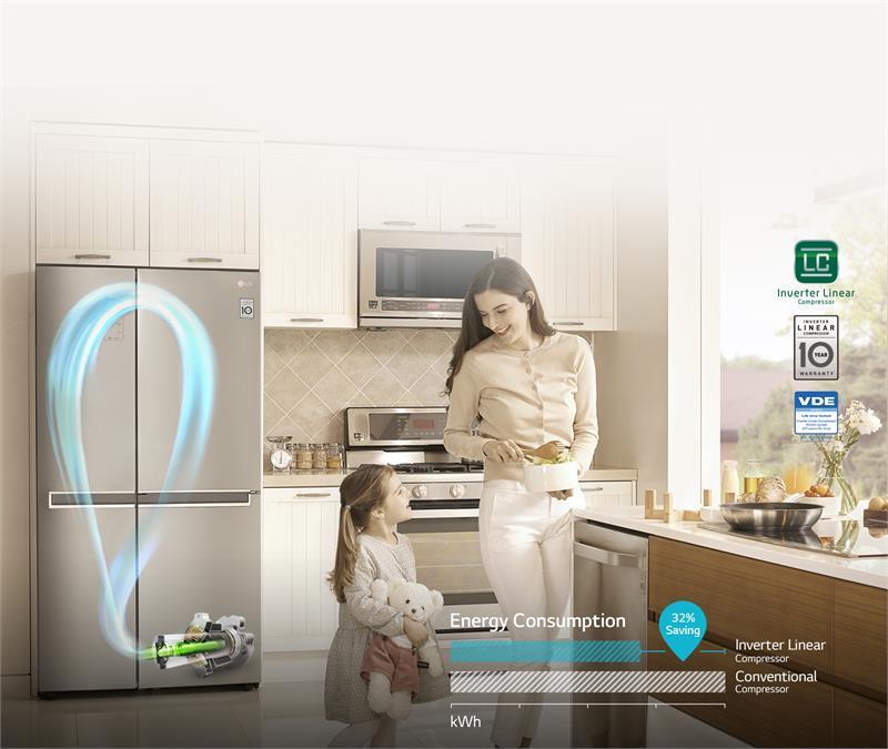Tủ lạnh LG B247JDS 679L