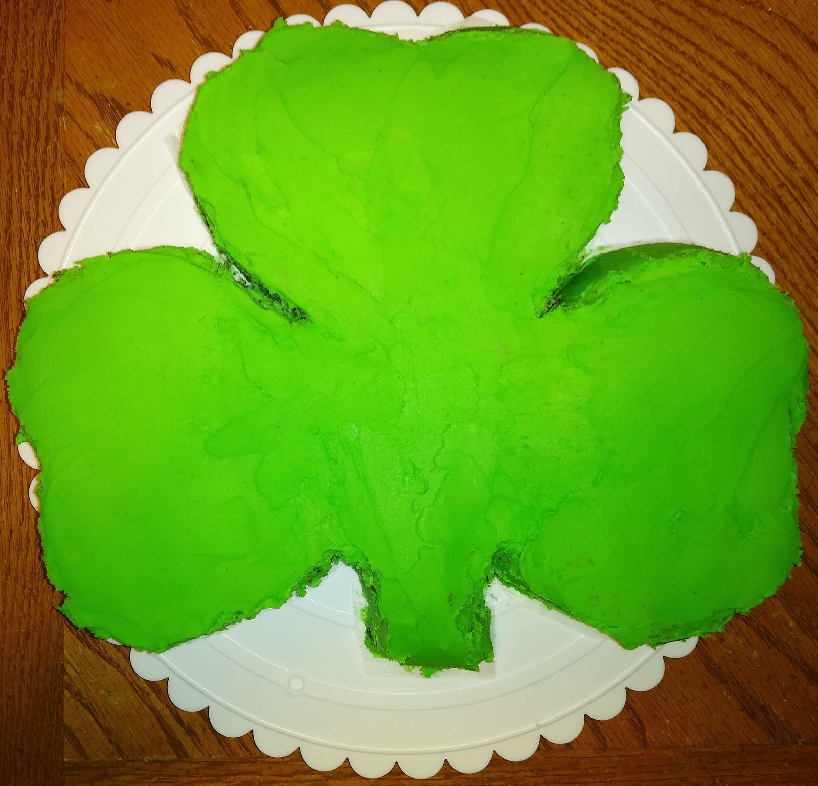 Guinness chocolate shamrock cake image