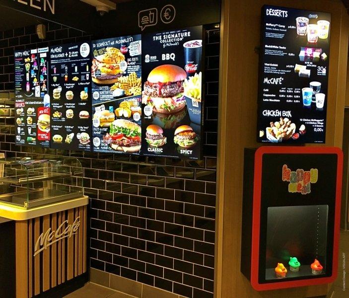 McDonald's using digital menu boards