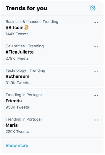 tendências do twitter