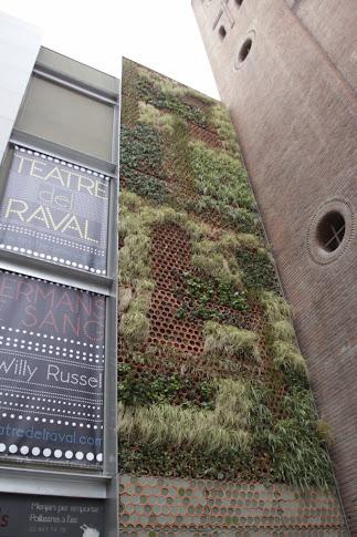Jardín vertical en Barcelona.