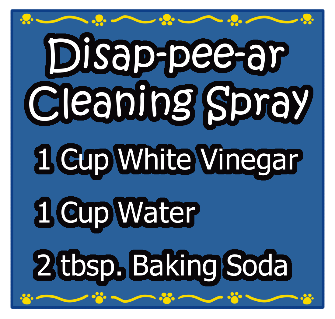 Blue Square Disap-pee-ar Cleaning Spray Sticker Label