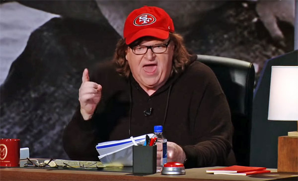 Leftist activist and film maker Michael Moore (Photo: Screenshot)