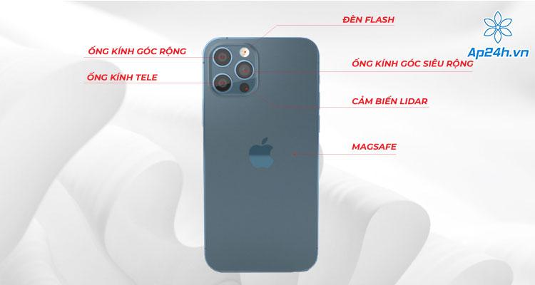Cấu tạo bên ngoài iPhone 12 Pro ở mặt sau