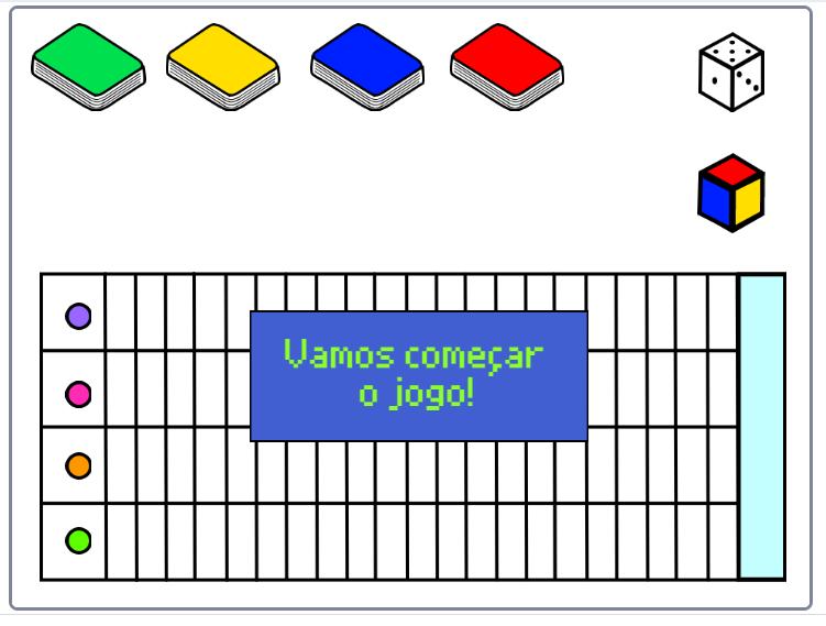A imagem mostra a cena de um jogo virtual.