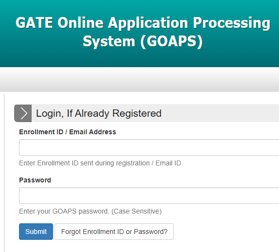 GOAPS Login Portal