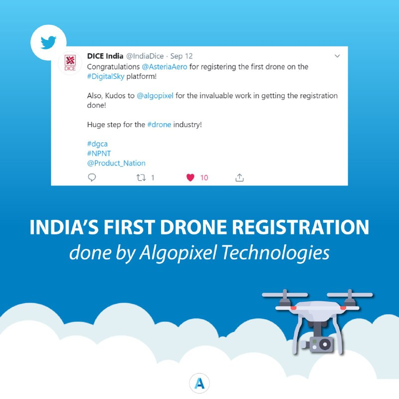 india's first drone registration