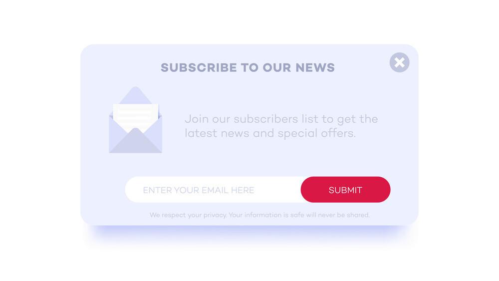 Opsi berlangganan untuk Sidebar WordPress