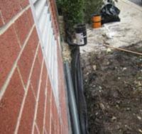 Piping along the wall