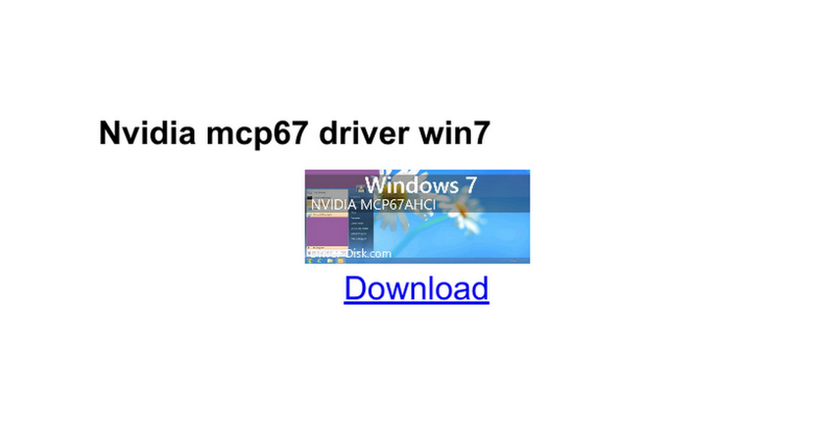 Mcp67 high definition audio driver download windows 7.