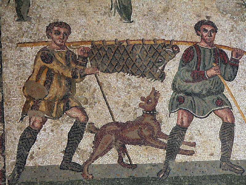 H:\K PALAIOLOGOS\ISTORIKA\ΨΗΦΗΔΩΤΑ\The Childrens Hunt mosaic9 - imperial villa Piazza Armerina - Sicily  4th cent.jpg