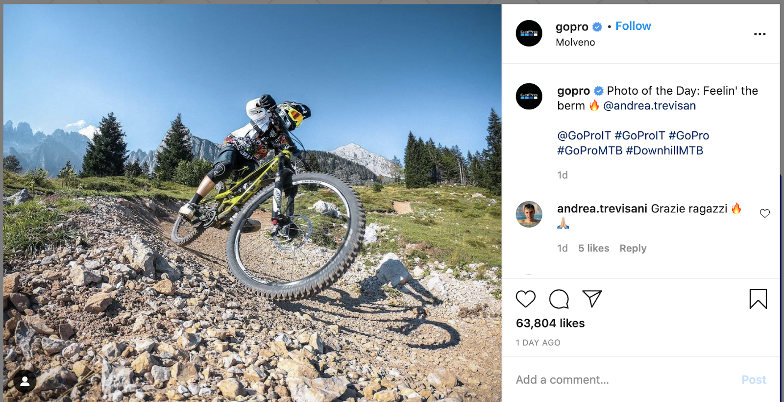 example of user-generated content by gopro