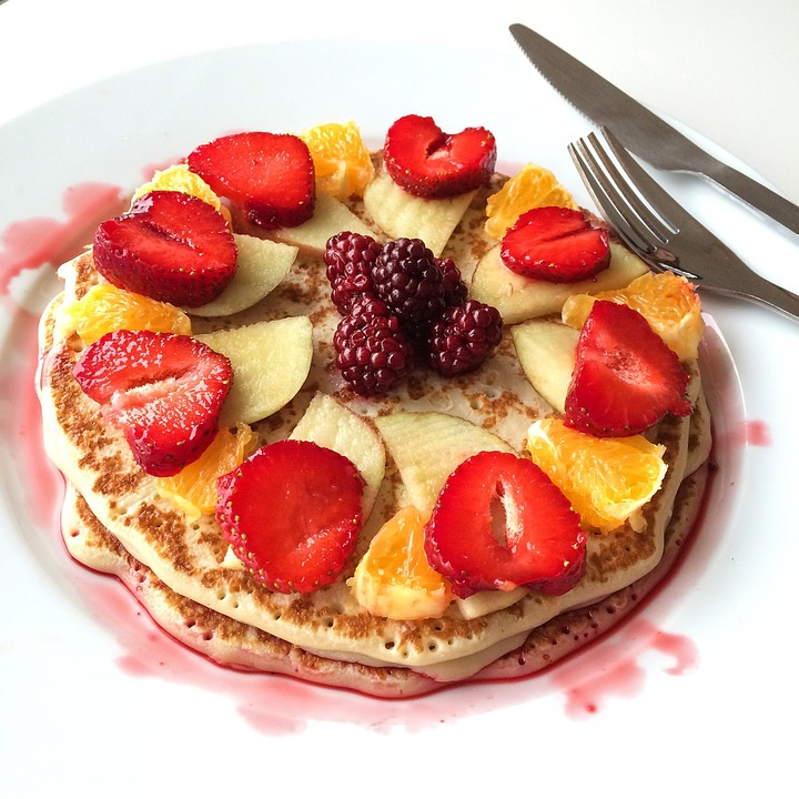 Pancake, Mat, Strawberries ...