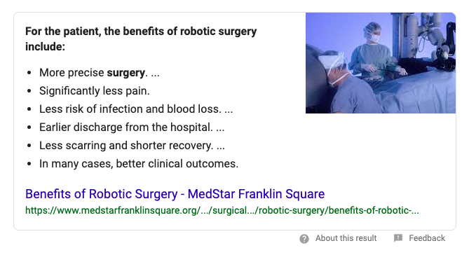 Healthcare marketing how to rank for featured snippets