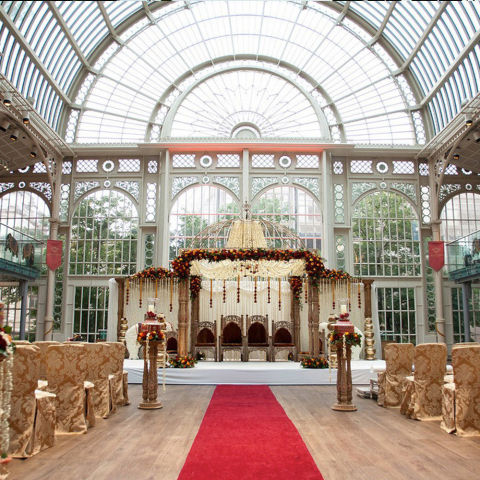 Where: LondonUSP: In the heart of Covent Garden, at the site of many of the world's most famous performances, ceremonies are held in the magnificent glass atrium of the Paul Hamlyn Hall.Bonus points: Knowing that you're one of only two weddings a year hosted at the in-demand venue.Price: Price on application  Visit roh.org.uk Picture courtesy of ROH