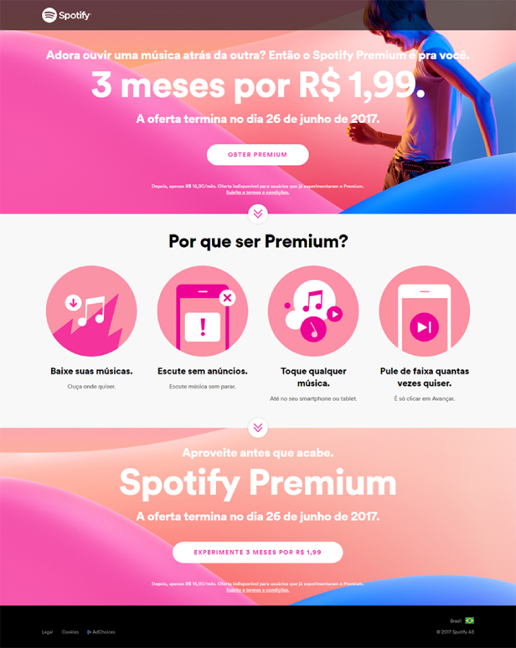 melhores landing pages