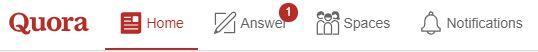 Quora Spaces tab
