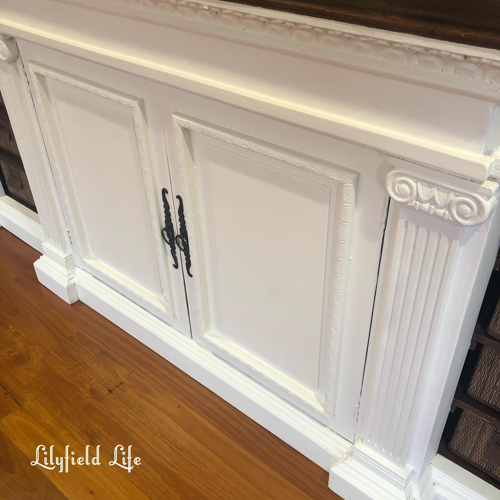 tv cabinet Lilyfield life white paint chalk