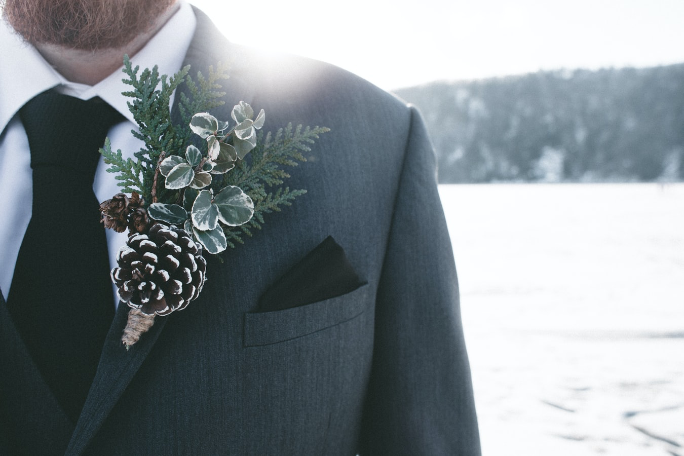 Winter photo of a Groom