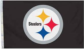 Amazon.com : Fremont Die NFL Pittsburgh Steelers 3' x 5' Flag with  Grommets, 3 x 5-Foot, Logo : Outdoor Flags : Sports & Outdoors