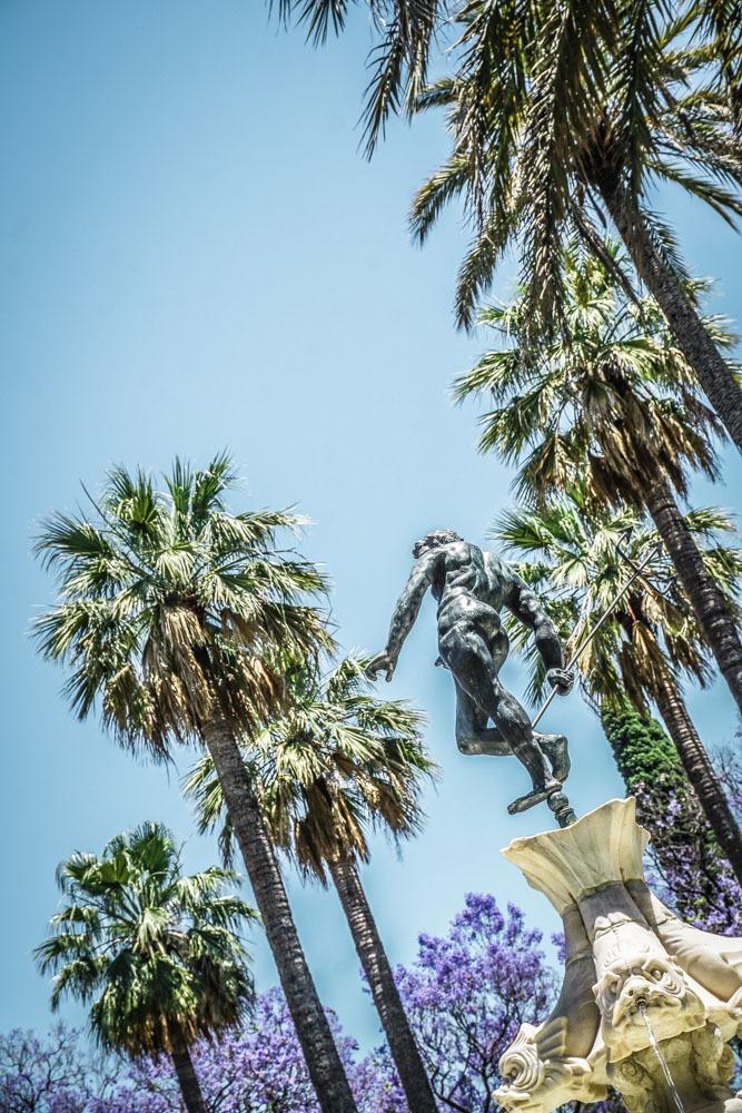 Alcazar Seville, Palms and Fountains