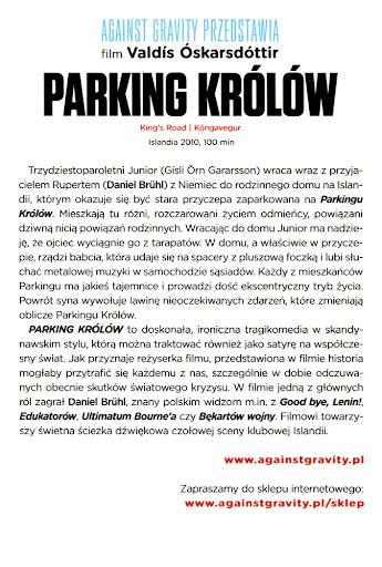 Tył ulotki filmu 'Parking Królów'