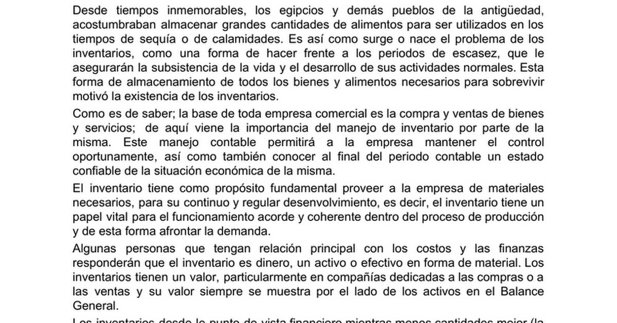 MANEJO Y CONTROL DE INVENTARIOS - Google Docs