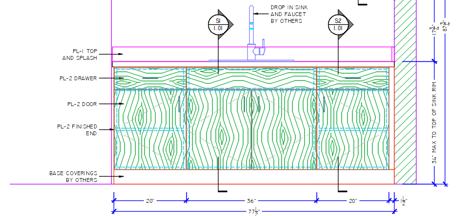 SSD Elevation View Drawings