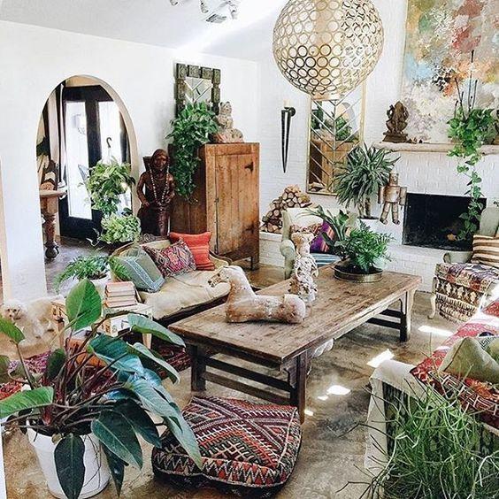 Thiên nhiên trong phong cách Bohemian tạo sự hoang dã và cá tính cho chủ nhân căn nhà