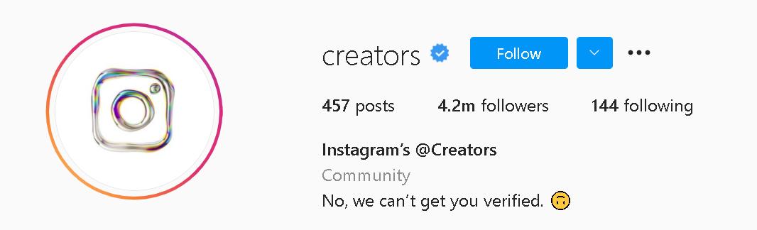 autentik instagram profile