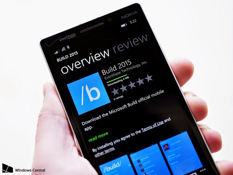 Nâng cao trãi nghiệm sự kiện BUILD 2015 với ứng dụng BUILD 2015 chính thức từ Microsoft