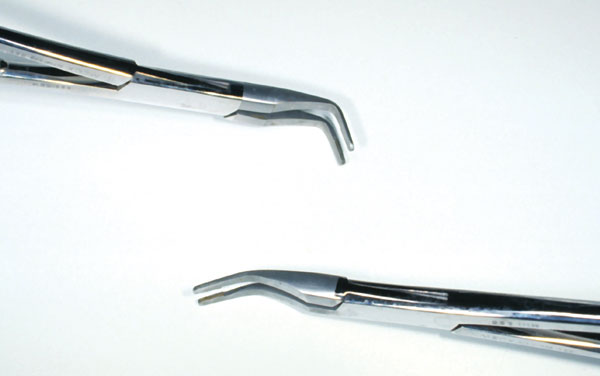 Side view of the hemostat applicator tips