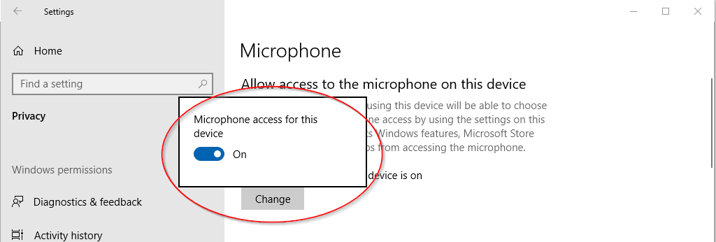 Microphone Access