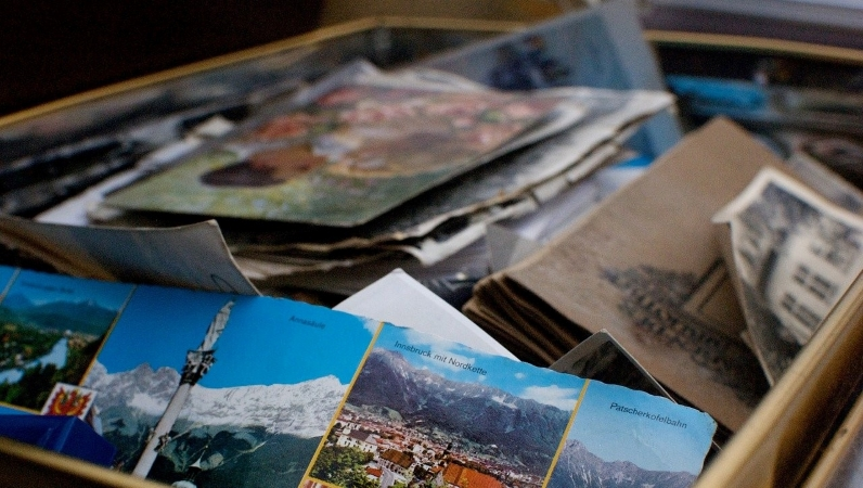 There are some great home organization ideas for sorting through sentimental items.