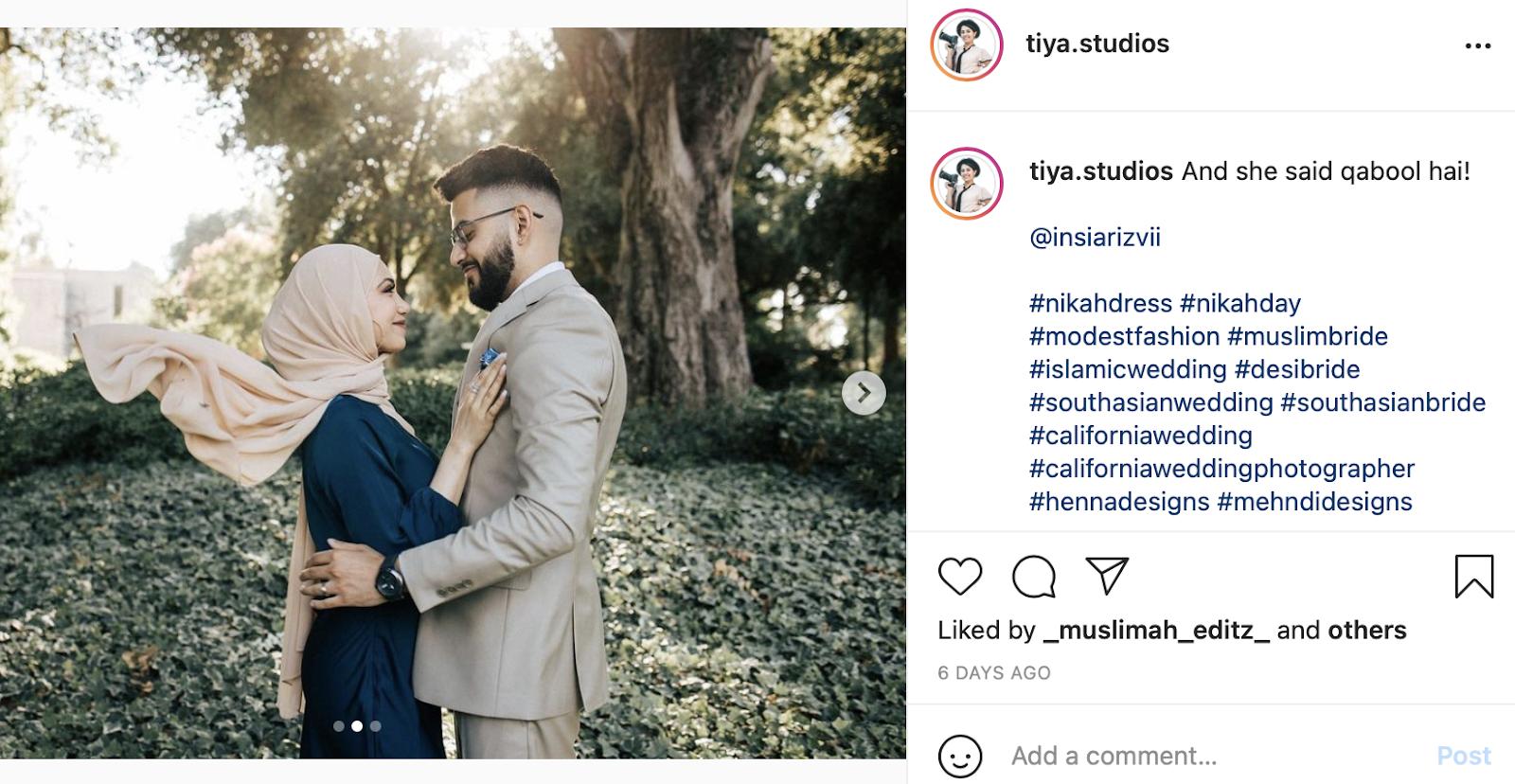 Islamic wedding photo
