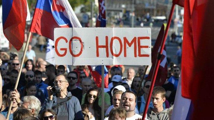 Акція в Братиславі проти нелегальної міграціі