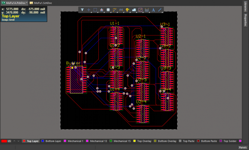 Altium Designer's tight routing capabilities