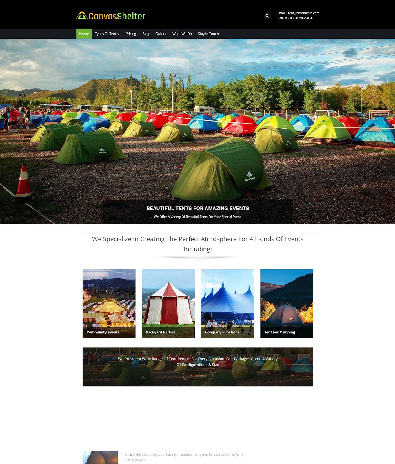 Canvas shelter WordPress Theme