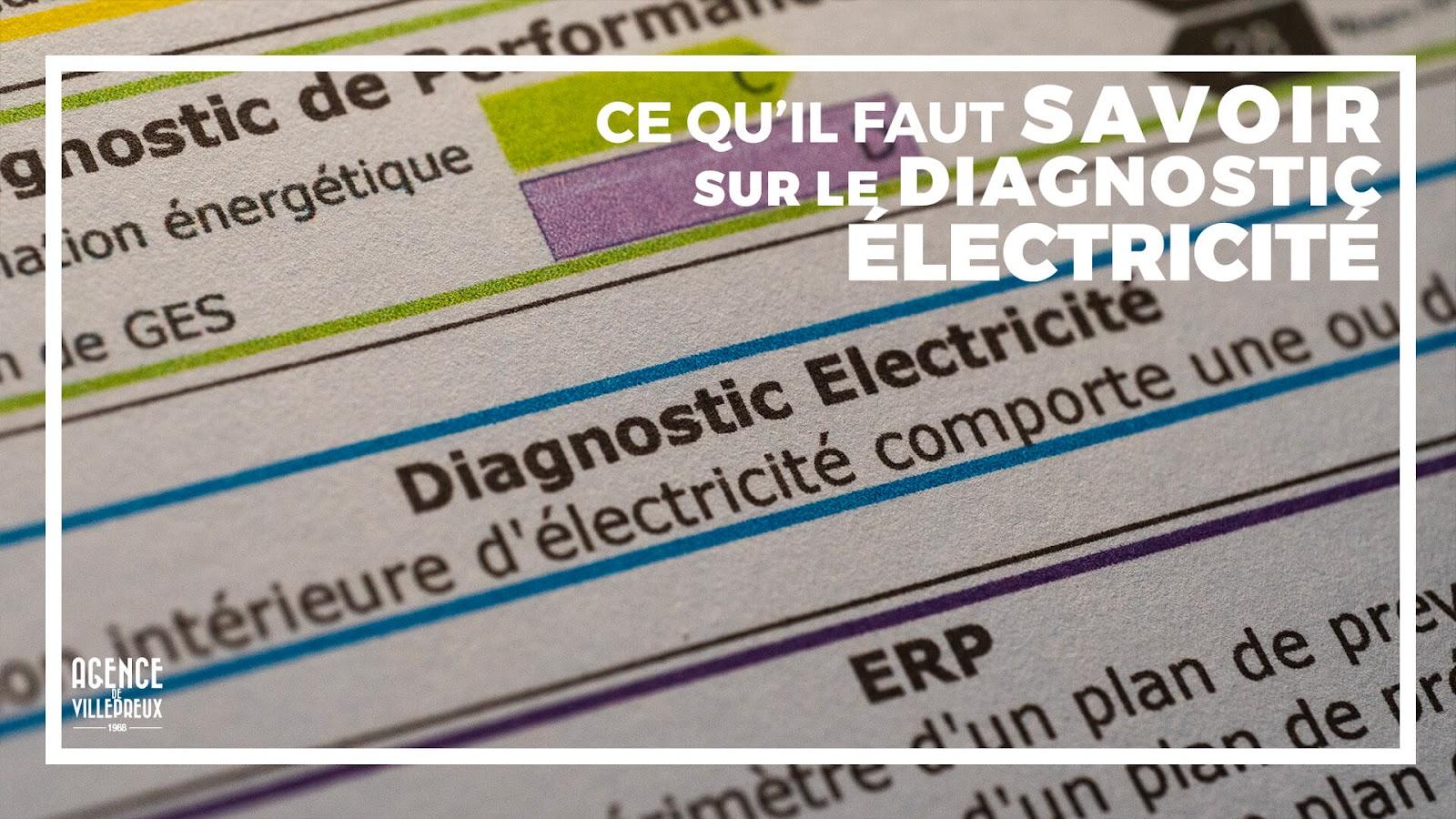 diagnostic electrique pour vendre ou louer