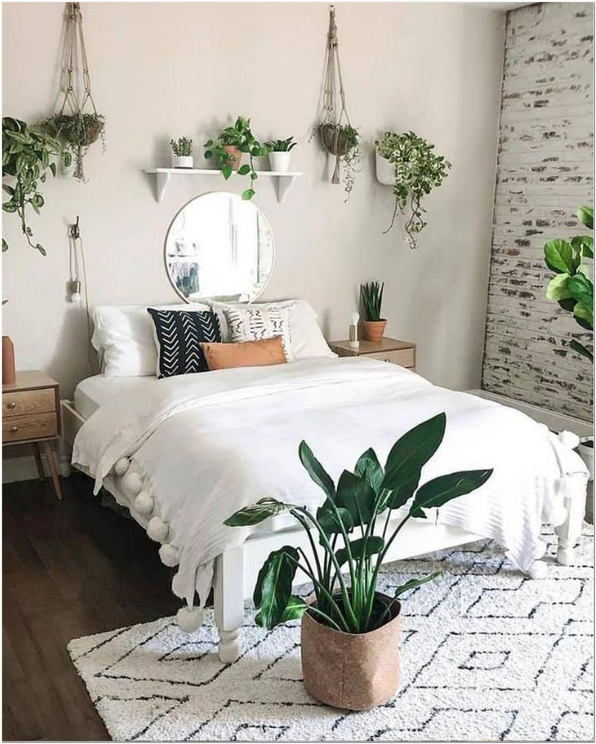 Phòng ngủ trang trí cây xanh theo phong thủy