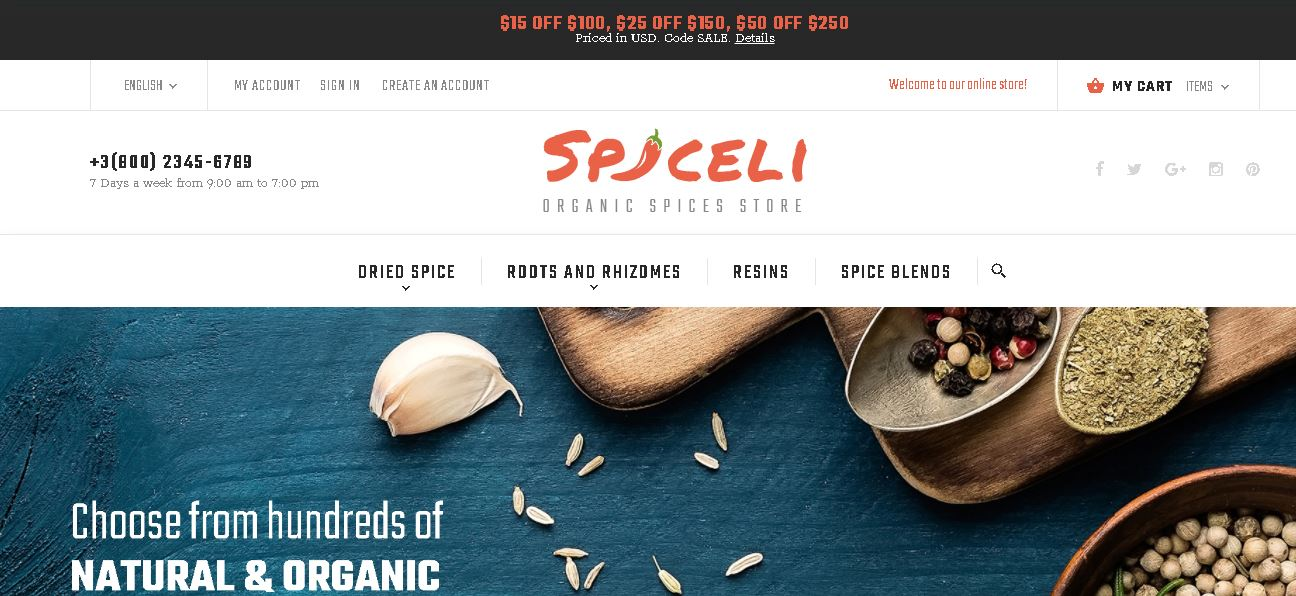 Fruits and vegetables magento theme spiceli