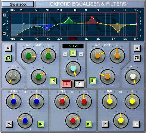Oxford Sonnox parametric EQ software