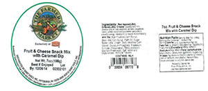 Label, The Farmers Market Fruit & Cheese Snack Mix with Caramel Dip, 7 oz.