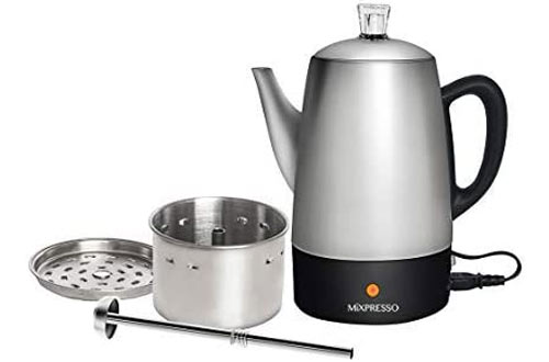 Mixpresso Stainless Steel Electric Percolator Coffee Pot